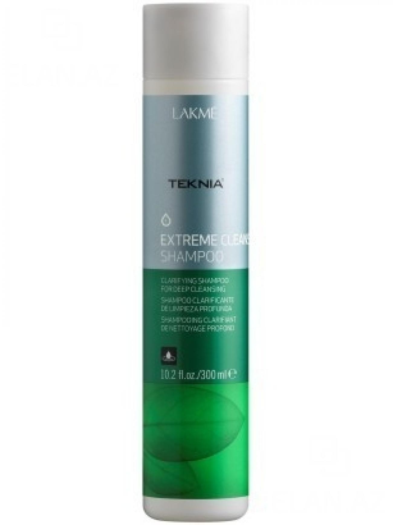 Lakme Шампунь для глубокого очищения Shampoo, 300 мл47312Обогащенный фруктовыми кислотами и экстрактом зеленого чая, он придает волосам естественный блеск и мягкость. Вытяжка из плодов индийского каштана оказывает вяжущее, антисептическое действие и обеспечивает глубокое очищение , как волос, так и кожи головы. Мягкая формула эффективно удаляет остатки укладочных средств и запахи, не вызывает раздражения. Входящий в состав ментол, мгновенно дает ощущение свежести.Шампунь для глубокого очищения Lakme Teknia Extreme Cleanse Shampoo содержит WAA™ – комплекс растительных аминокислот, ухаживающий за волосами и оказывающий глубокое воздействие изнутри. Идеально подходит для очень жирных волос.