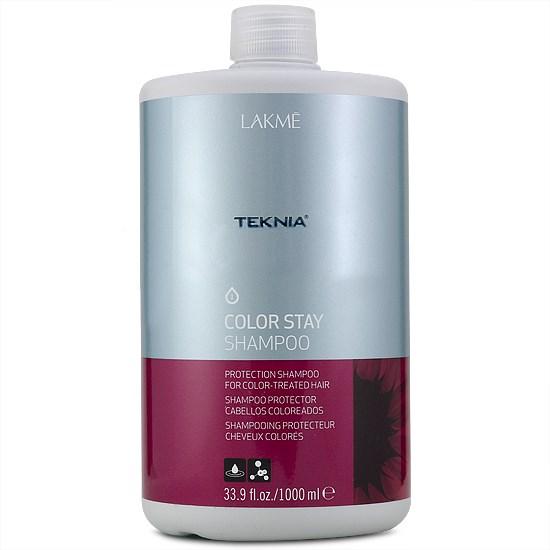 Lakme Шампунь для защиты цвета окрашенных волос Shampoo, 1000 мл47511Специальная pH формула восстанавливает поврежденный кутикулярный слой волос. Надолго сохраняет цвет окрашенных волос, замедляя потерю пигмента. Комбинация семян подсолнечника и УФ – фильтров действует в качестве защиты от внешних факторов.Шампунь для защиты цвета окрашенных волос Lakme Teknia Color Stay Shampoo содержит WAA™ – комплекс растительных аминокислот, ухаживающий за волосами и оказывающий глубокое воздействие изнутри. Стойкий результат надолго, богатый и насыщенный цвет. Блестящие, мягкие и эластичные волосы.