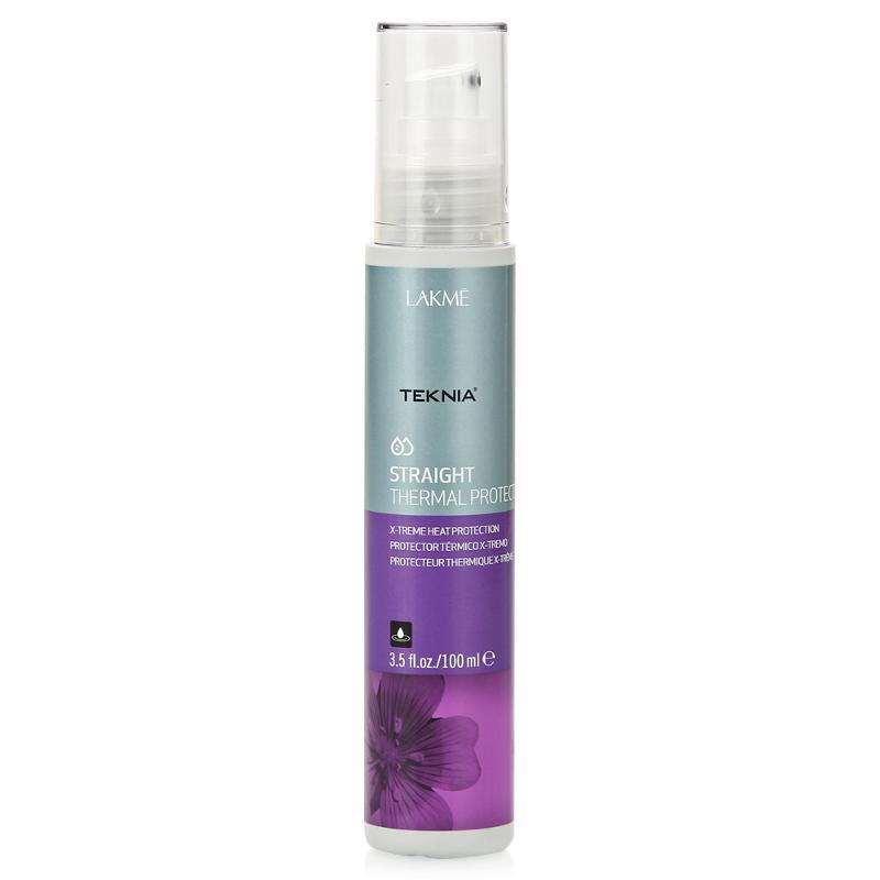 Lakme Cпрей для экстремальной термозащиты волос Thermal Protector, 100 мл47823Максимально защищает волосы от действия высоких температур при сушке феном или использовании щипцов. Облегчает расчесывание. Волосы остаются прямыми длительное время. Cпрей для экстремальной термозащиты волос Lakme Teknia Straight Thermal Protector содержит WAA комплекс растительных аминокислот, ухаживающий за волосами и оказывающий глубокое воздействие изнутри.