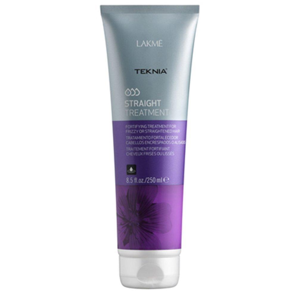 Lakme Средство укрепляющее для непослушных или химически выпрямленных волос Treatment, 250 мл47832Реструктурирует, укрепляет, увлажняет и смягчает волосы, рекомендовано для использования после химического выпрямления волос или для облегчения выпрямления натурально вьющихся волос. Средство укрепляющее для непослушных или химически выпрямленных волос Lakme Teknia Straight Treatment содержит WAA™ – комплекс растительных аминокислот, ухаживающий за волосами и оказывающий глубокое воздействие изнутри.