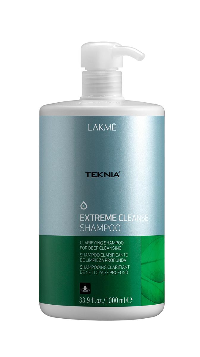 Lakme Шампунь для глубокого очищения Shampoo, 1000 мл47311Обогащенный фруктовыми кислотами и экстрактом зеленого чая, он придает волосам естественный блеск и мягкость. Вытяжка из плодов индийского каштана оказывает вяжущее, антисептическое действие и обеспечивает глубокое очищение , как волос, так и кожи головы. Мягкая формула эффективно удаляет остатки укладочных средств и запахи, не вызывает раздражения. Входящий в состав ментол, мгновенно дает ощущение свежести.Шампунь для глубокого очищения Lakme Teknia Extreme Cleanse Shampoo содержит WAA™ – комплекс растительных аминокислот, ухаживающий за волосами и оказывающий глубокое воздействие изнутри. Идеально подходит для очень жирных волос.