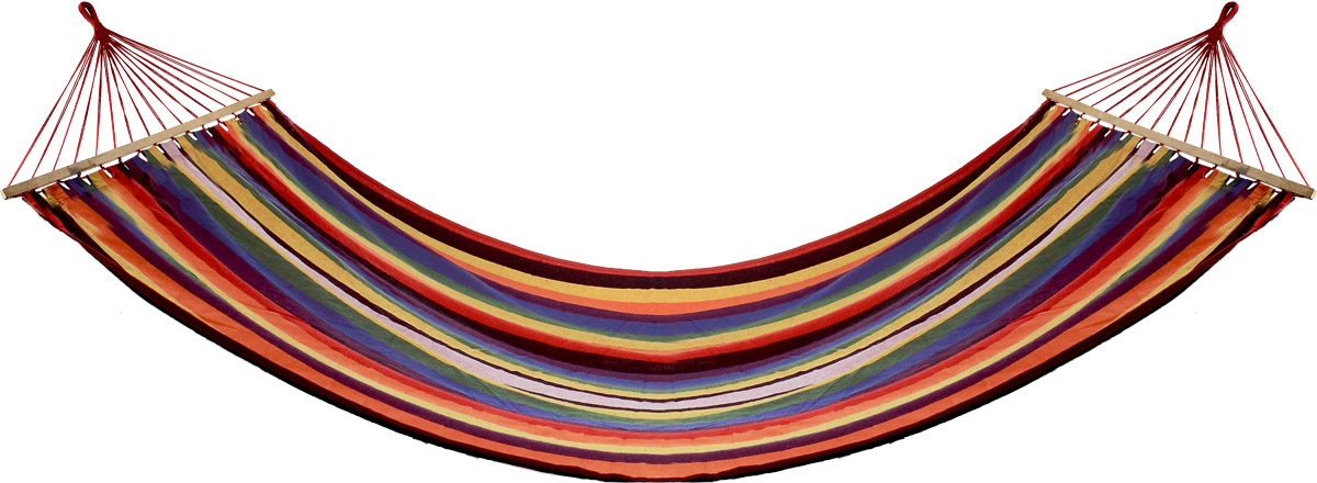 Гамак Wildman Оазис, цвет: оранжевый, красный, синий, 150 х 200 см81-179Прочный гамак Wildman Гавана, изготовленный из высококачественного хлопка и полиэстера, внесет дополнительный комфорт в ваш отдых на даче, в походе или на пикнике. Изделие оснащено деревянным каркасом.Гамак - Это место для отдыха, кровать, парящая над землей, ему всегда будут рады и на приусадебном участке, и в доме, и в квартире. Гамаки способны сделать уютным и удобным любой летний отдых. Поход в лес - и качественный гамак станет местом для сна. Поездка за город - и он превратится в личный уголок, где можно полежать с книжкой, подремать, скрыться от суеты и солнца.