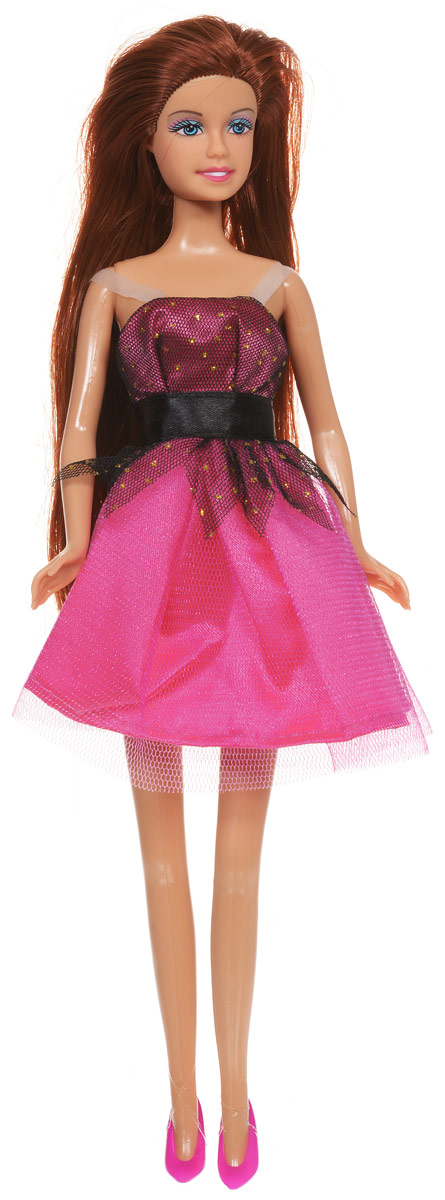 Defa Кукла Lucy цвет платья розовый черный defa toys кукла lucy цвет платья розовый