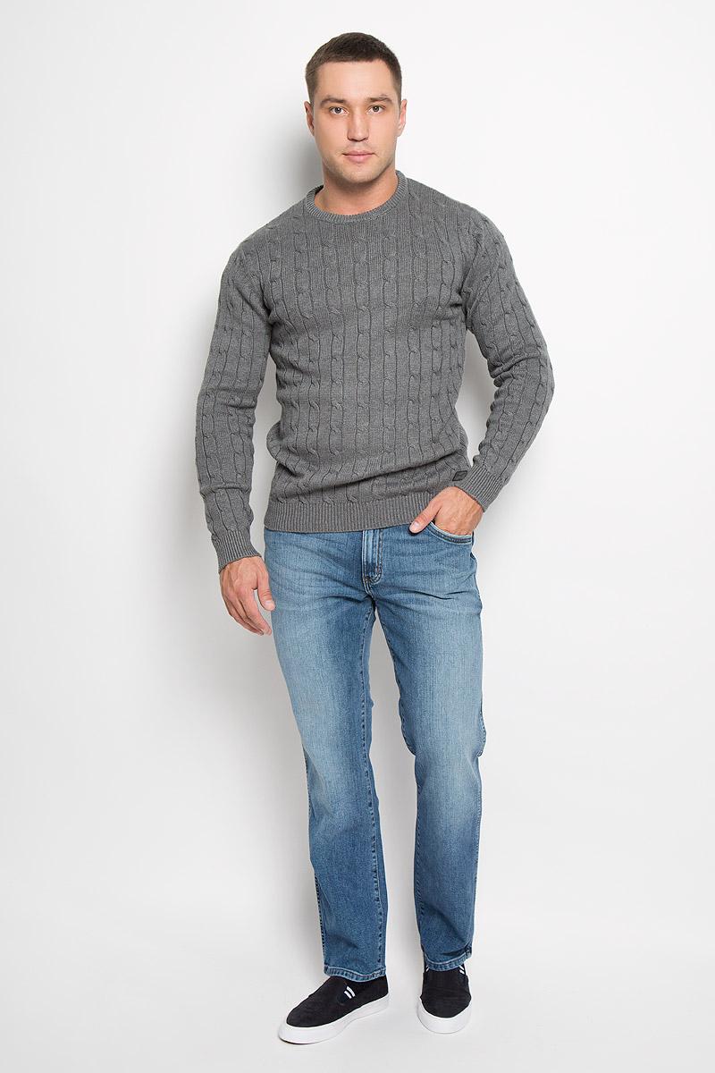 Джинсы мужские Wrangler Arizona Stretch, цвет: синий. W12OXG62U. Размер 30-32 (46-32)W12OXG62UСтильные мужские джинсы Wrangler Arizona Stretch - джинсы высочайшего качества, которые прекрасно сидят. Модель слегка зауженного к низу кроя и средней посадки изготовлена из хлопка с добавлением эластана, не сковывает движения и дарит комфорт.Джинсы на талии застегиваются на металлическую пуговицу, а также имеют ширинку застежке-молнии и шлевки для ремня. Спереди модель дополнена двумя втачными карманами и одним небольшим накладным кармашком, а сзади - двумя большими накладными карманами. Джинсы оформлены небольшими потертостями.Эти модные и в тоже время удобные джинсы помогут вам создать оригинальный современный образ. В них вы всегда будете чувствовать себя уверенно и комфортно.
