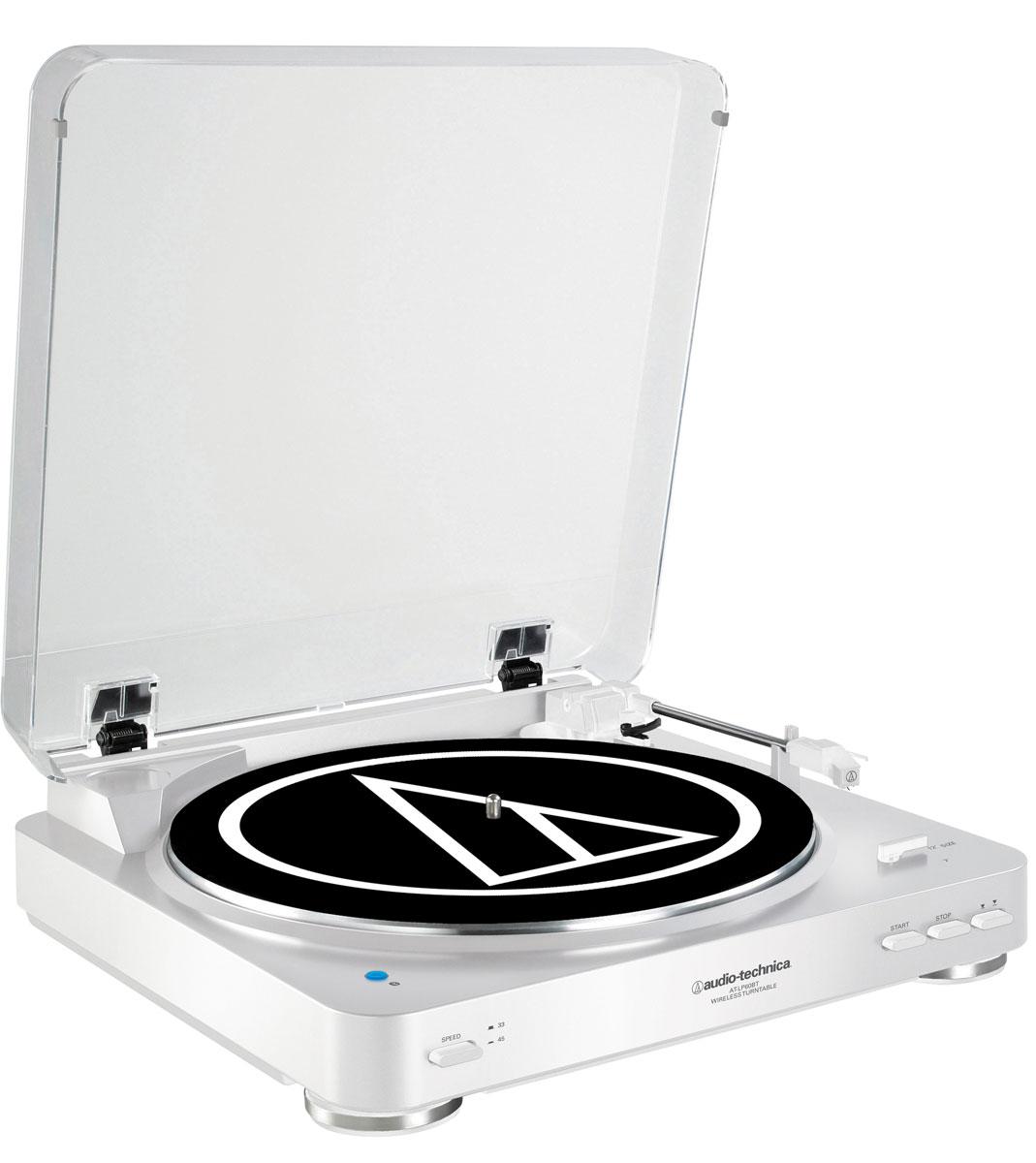 Audio-Technica AT-LP60BT, White проигрыватель виниловых дисков15118424Audio-Technica AT-LP60BT - это полностью автоматический проигрыватель виниловых пластинок с поддержкой Bluetooth, привносящий легендарное звучание Audio-Technica в мир беспроводных соединений.Данная модель обеспечит выдающийся звук с легкость в автоматическом режиме: просто нажмите кнопку Пуск, чтобы начать воспроизведение записи, и кнопку Стоп, чтобы поднять и вернуть тонарм и выключить поворотный стол. Кнопка подъема тонарм также включена, чтобы позволить вам поднимать и опускать тонарм без остановки проигрывателя.Беспроводное подключение к устройствам, поддерживающим протокол Bluetooth (колонки, наушники, ресиверы)Проводное подключение к аудиосистемам и колонкам через двойной RCA-кабельВстроенный предусилитель с функцией отключенияАнтирезонансный литой опорный диск из алюминияВстроенный звукосниматель AT3600L с двумя подвижными магнитами, оснащённый съёмной алмазной иглойТип звукоснимателя: VM Мотор DC с сервоприводом Спецификация Bluetooth v3,0, Power Class 2, A2DPРадиус действия 10 мПоддержка кодека SBC