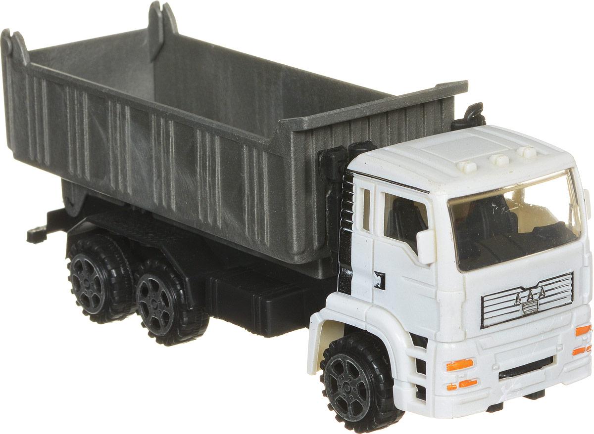 Junfa Toys Самосвал инерционный цвет серый белый