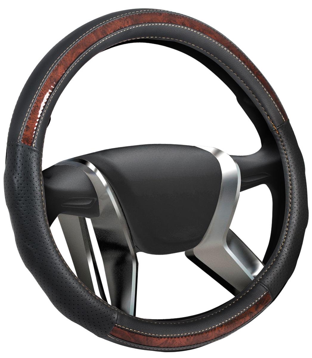 """Оплетка на руль Senator """"New Jersey"""", цвет: черный, диаметр 40 см"""