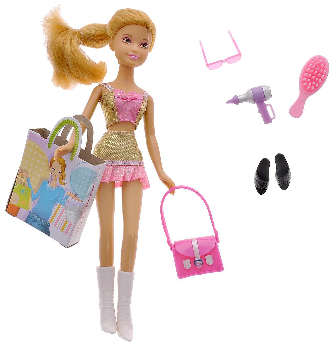 Defa Кукла Lucy Модница цвет наряда золотистый розовый кукла defa lucy любимый малыш pink 5063pk