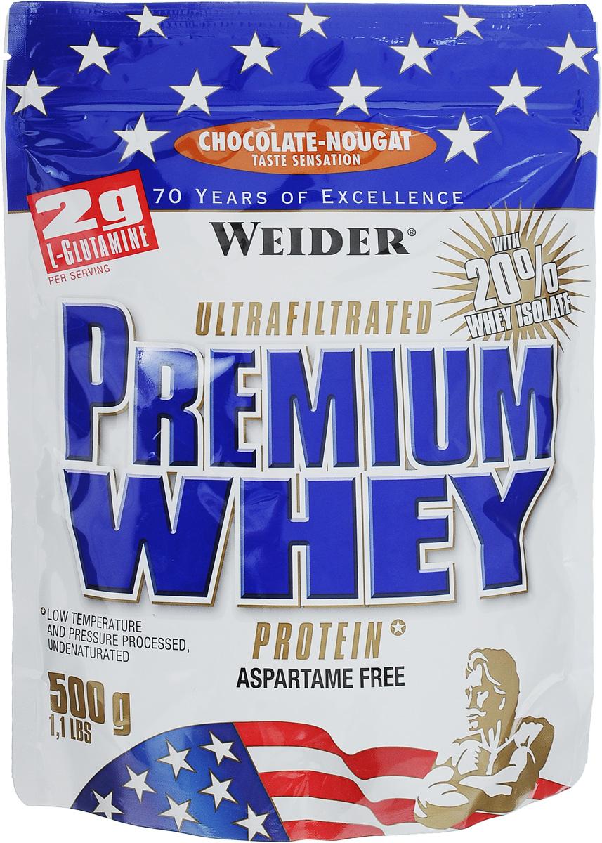 """Протеин сывороточный Weider """"Premium Whey"""", шоколад-нуга, 500 г"""