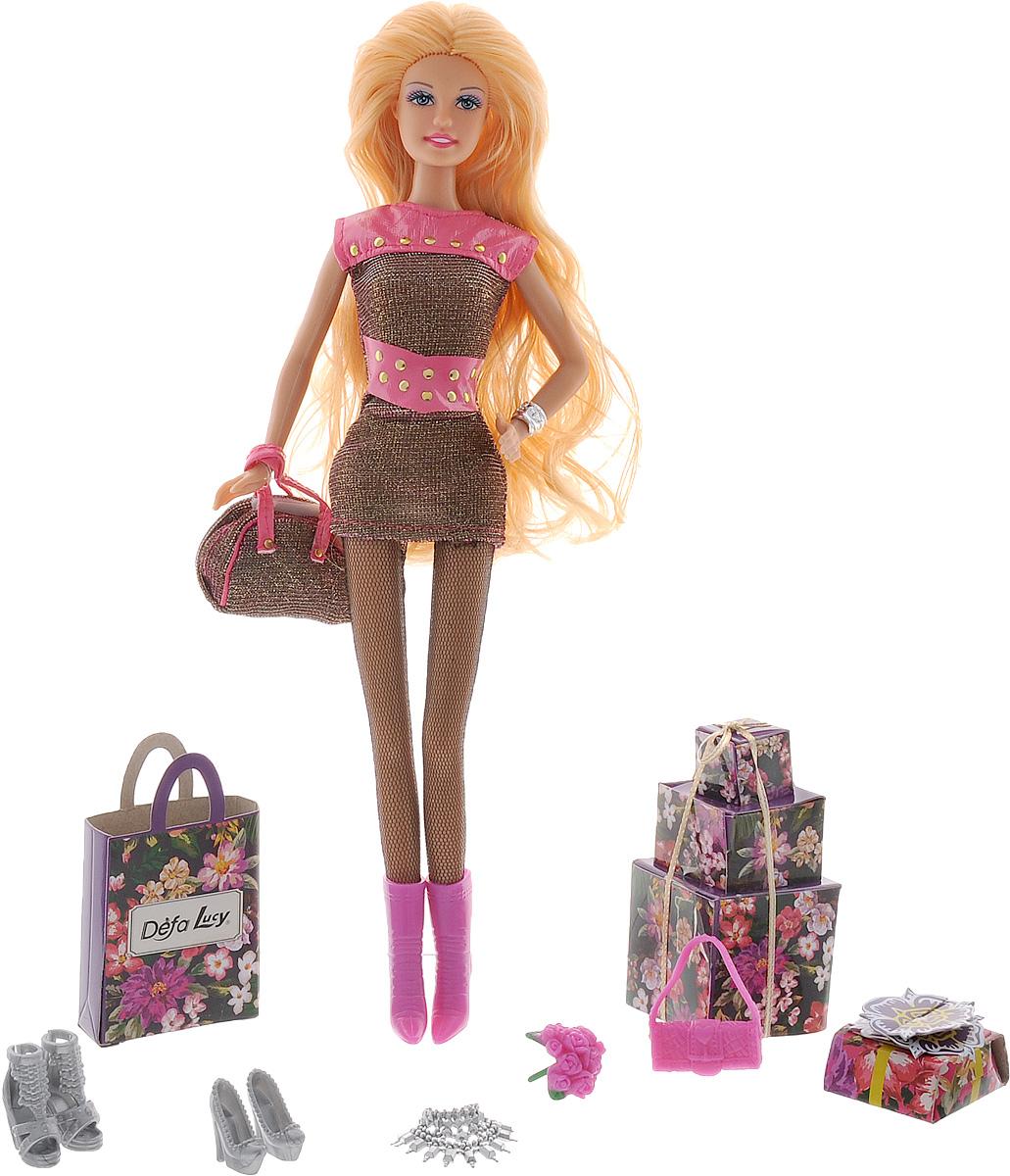 Defa Кукла Lucy цвет наряда черный розовый кукла defa lucy 8305a