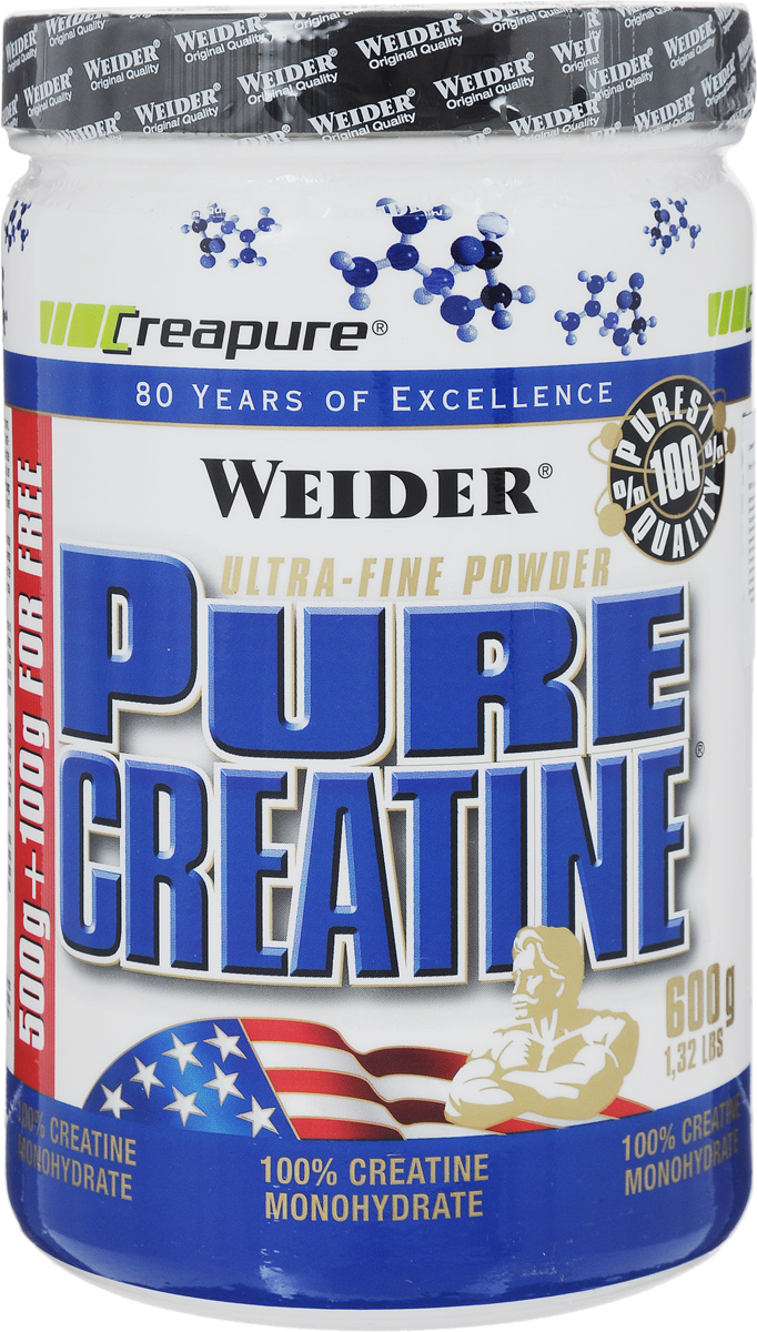 Креатин Weider Pure Creatine, 600 г dymatize nutrition моногидрат креатина dymatize creatine micronized 500гр