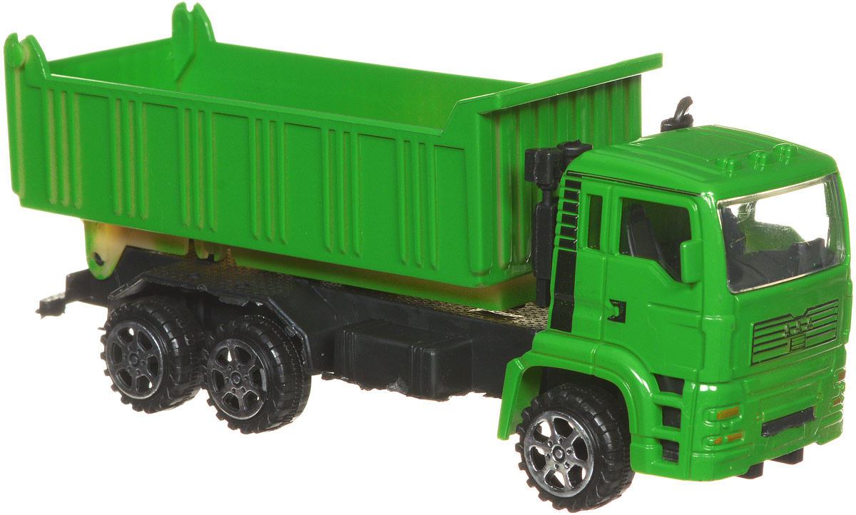 Junfa Toys Самосвал инерционный цвет зеленый junfa toys автовоз инерционный с погрузчиком excellent transport car