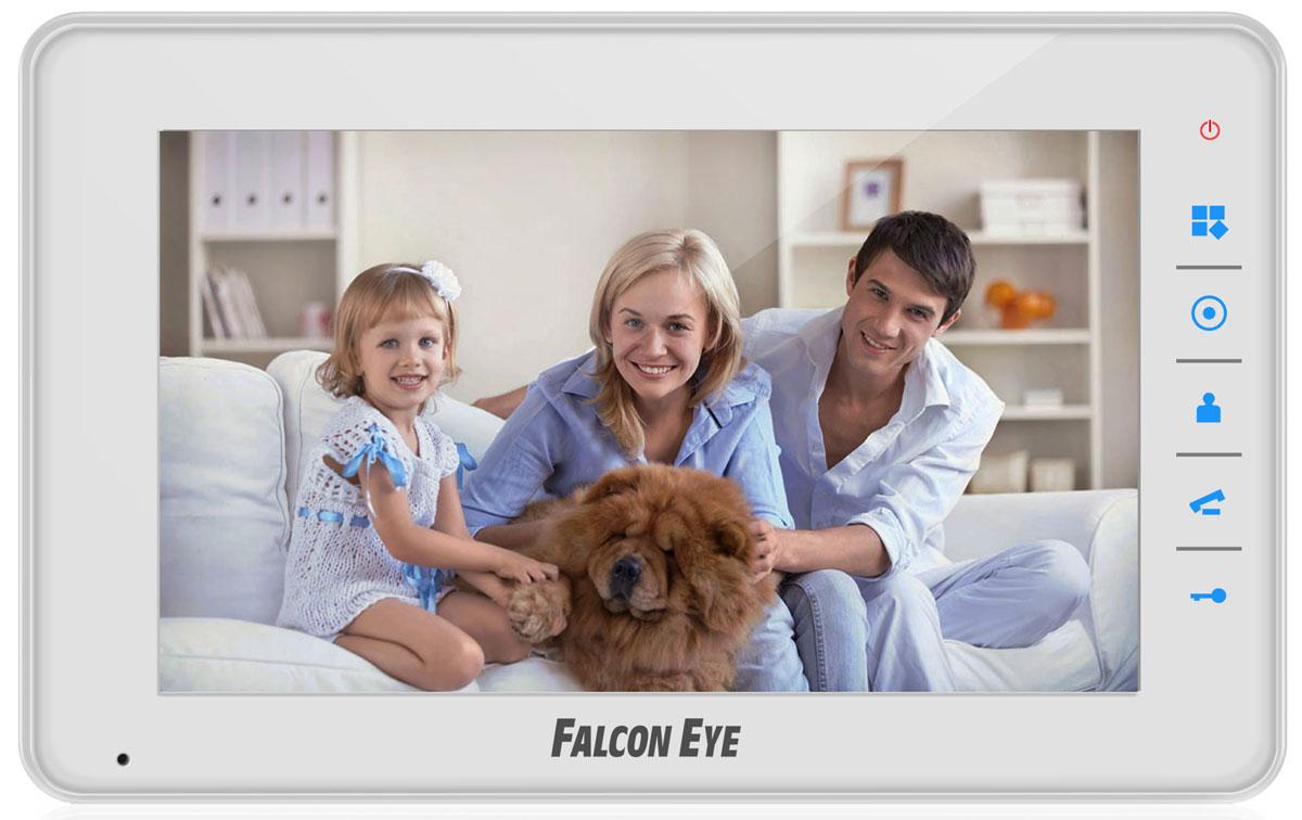 Falcon Eye FE-70C4 видеодомофонFE-70C4 цветной 7 дюймовВидеодомофон Falcon Eye FE-70C4 имеет цветной экран 7 дюймов и сенсорные кнопки. Самой главным преимуществом является подключение четырех вызывных панелей. Приятный дизайн, удобный интерфейс. Адресный интерком, подключение до 4 видеодомофонов в одну систему позволяет построить на базе домофонаобширную сеть для контроля и разграничения доступа. Встроенный блок питания. Возможность подключения к подъездному координатному и цифровому домофону (с помощью блока сопряжения).Подключение Falcon Eye FE-70C4 к координатному подъездному домофону происходит с помощью блоков сопряжения: MC-Vizit и МСК – к координатным системам домофонов(Vizit, Cyfral, Элтис и аналоги); MC-XL и МСЦ – к цифровым системам домофонов (RAIKMANN, KEYMANN, FELMANN, LASKOMEX, PROEL.MARSHAL и аналоги). Спомощью этого блока сопряжения вы можете объединить подъездный домофон и индивидуальную вызывную панель в одну систему.