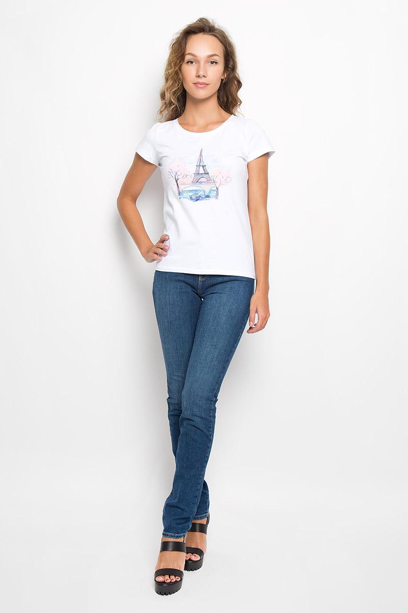 Джинсы женские Wrangler, цвет: синий. W27G9179H. Размер 27-32 (42/44-32)W27G9179HСтильные женские джинсы Wrangler - отличная модель на каждый день, которая прекрасно подчеркнет вашу фигуру.Изделие изготовлено из высококачественного материала. Модель-слим с завышенной талией станет отличным дополнением к вашему современному образу.Застегиваются джинсы на металлическую пуговицу в поясе и ширинку на застежке-молнии, имеются шлевки для ремня. Спереди модель дополнена двумя втачными карманами с закругленными краями и небольшим секретным кармашком, а сзади - двумя накладными карманами. Модель оформлена контрастной прострочкой, металлическими клепками и фирменной нашивкой сзади. Эти эффектные и в то же время комфортные джинсы послужат превосходным дополнением к вашему гардеробу. В них вы всегда будете чувствовать себя уютно и комфортно.