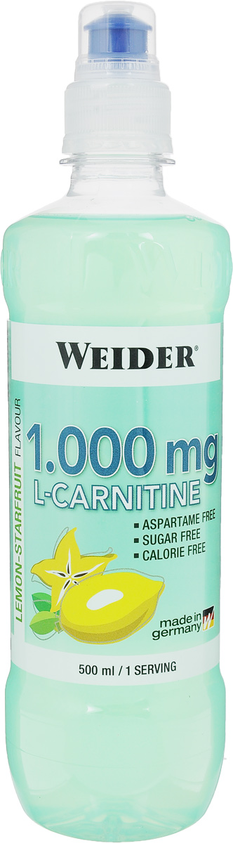 """L-карнитин """"Weider"""", лимон-карамбола, 500 мл"""