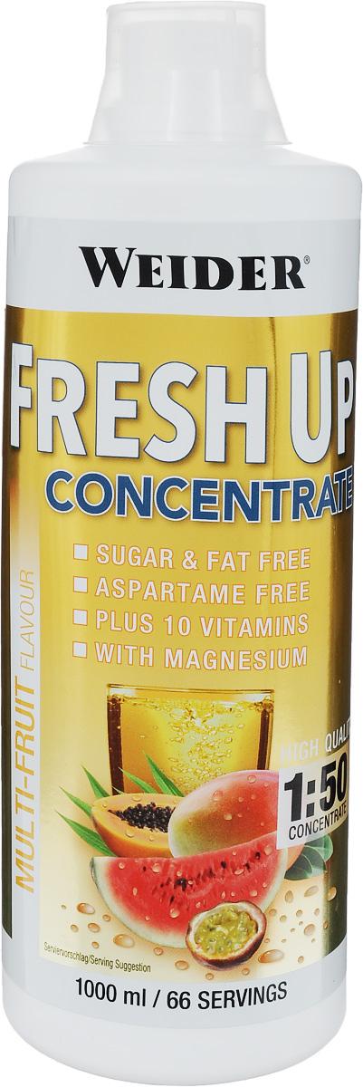 Концентрат витаминно-минеральный Weider Fresh Up, мультифрукт, 1 л изотоник weider fresh up апельсин 1л