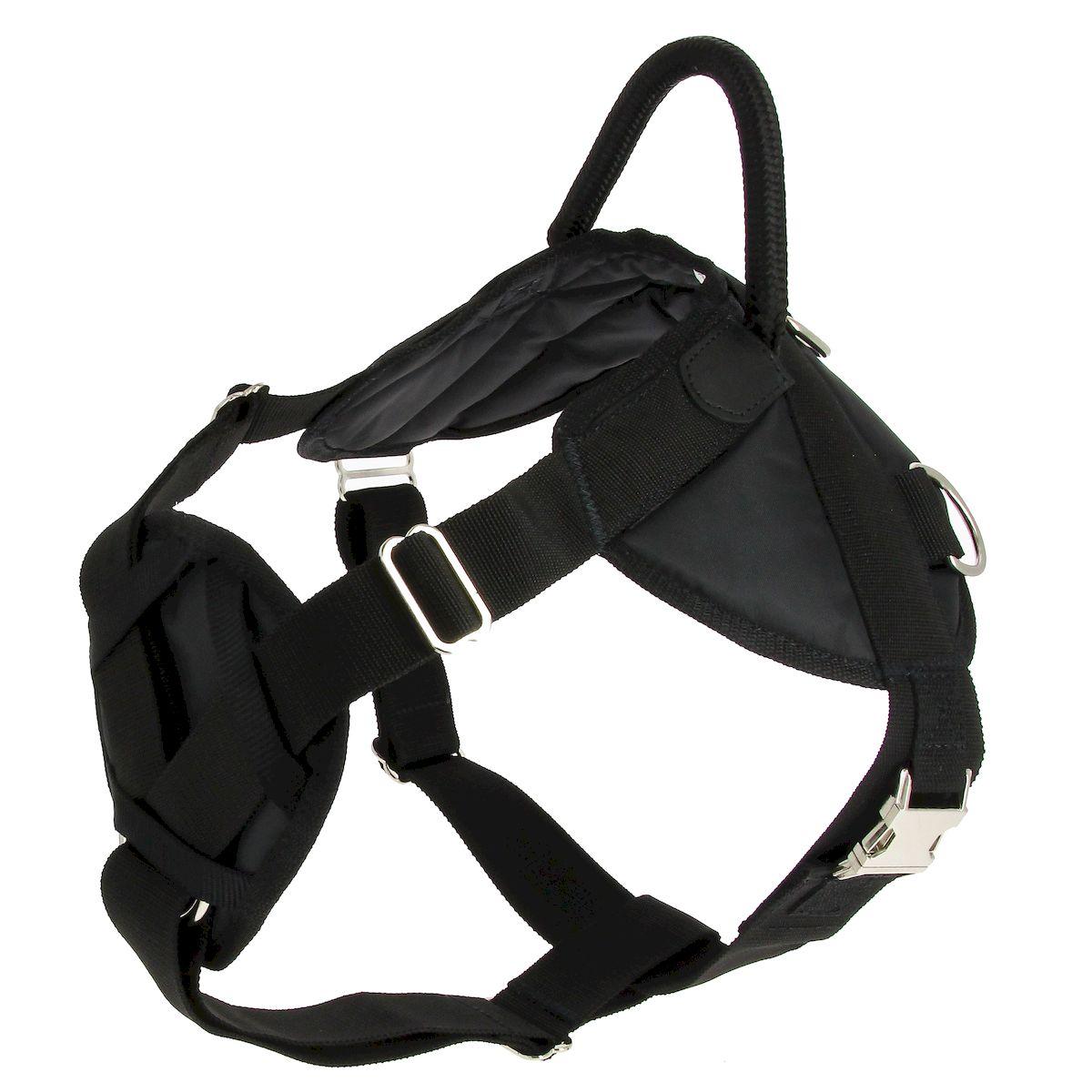 Шлейка для собак Каскад Профи, с грудью, с металлической фурнитурой. Размер M