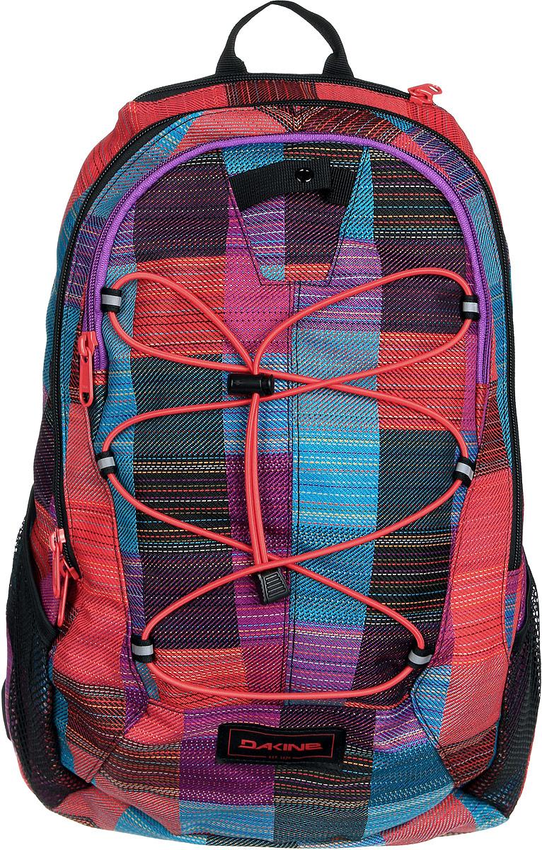 Рюкзак женский Dakine DK WOMENS TRANSIT 18L LAYLA. 0821007200117073 08210072Городской женский рюкзак. Карман для очков. Карман-органайзер. Боковые карманы из сетки. Резиновый шнур для закрепления вещей снаружи.