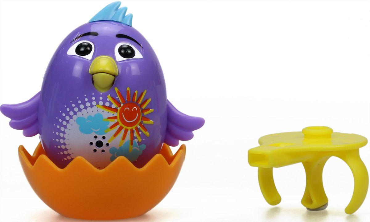 DigiBirds Интерактивная игрушка Цыпленок с кольцом Violet silverlit digibirds пингвин фигурист с кольцом серый