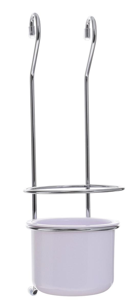 Держатель для приборов Esprado Platinos, с пластиковым стаканом крючок малый esprado platinos для рейлинга 5 7 см 5 шт