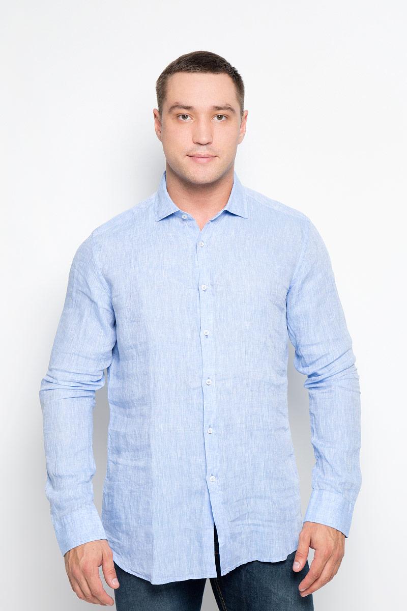 Купить Рубашка мужская And Camicie, цвет: голубой. 001T620S_020. Размер 40