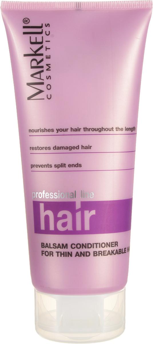 Markell Бальзам-ополаскиватель Professional Hair Line для тонких и ломких волос, 200 мл7676Бальзам-ополаскиватель для интенсивного ухода за тонкими и ломкими волосами. Оказывает кондиционирующее и стимулирующее действие на волосы, устраняет их ломкость и сухость, предотвращает сечение кончиков волос. Волосы моментально приобретают естественный блеск и жизненную силу- восстанавливает поврежденные волосы- питает волосы по всей длине- предотвращает сечение кончиков волос