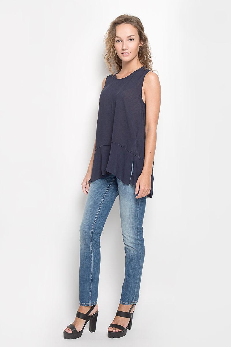 Блузка женская Marc O'Polo, цвет: темно-синий. 127540103/876. Размер 40 (44) marc cain блузка