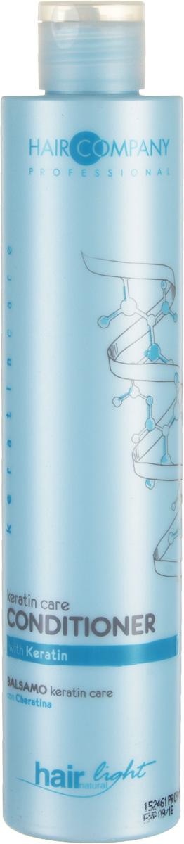 Hair Company Бальзам-уход для волос с кератином Professional Light Keratin Care Conditioner 250 мл255831Hair Company HAIR LIGHT KERATIN CARE Бальзам уход для волос с кератином специально разработан для тонких и ломких волос. Кератин, входящий в состав бальзама, глубоко проникает в структуру волос, восстанавливая поврежденные волосы, мягко распутывая их.Продукция линии keratincare специально разработана для укрепления тонких, ломких и повреждённых волос. Концентрация Кератина проникает глубоко внутрь каждого волоса, в результате чего происходит его полное восстановление от корней до самых кончиков.Таким образом, волосам возвращается их естественное состояние и блеск. Глубокое восстановление тонких и ломких волос волосы восстановленные, более сильные и живые.Кератин - главный протеин, из которого состоят волосы. Химические и технические процедуры уменьшают его количество и делают волосы слабыми и ломкими. Применение продуктов линии keratincare, гарантирует максимальное их проникновение в стержень волоса, делая волосы более плотными и восстановленными изнутри.