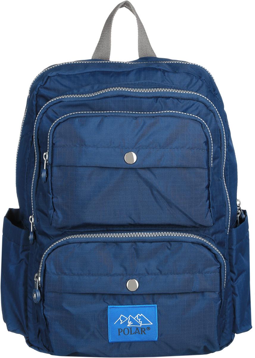 Рюкзак городской Polar, 16 л, цвет: синий. П6009-04 рюкзак городской polar 21 л цвет синий п955 04