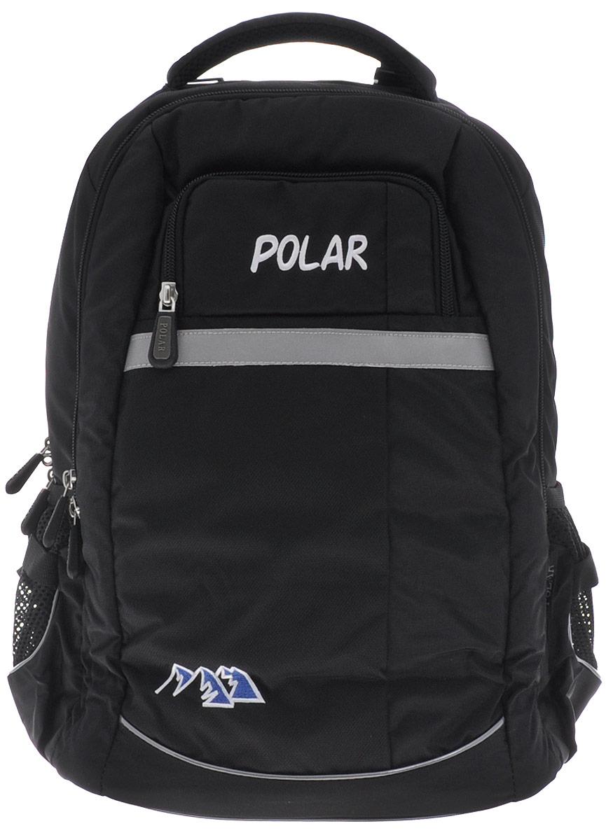 Рюкзак детский городской Polar, 26 л, цвет: черный. П220-05 рюкзак детский городской polar 26 л цвет серый п220 06