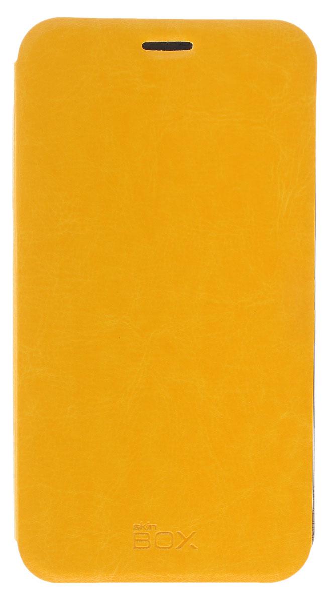Skinbox Lux чехол для Asus Zenfone Go ZB551KL, Yellow2000000092621Чехол Skinbox Lux для Asus Zenfone Go ZB551KL надежно защитит ваш смартфон от внешних воздействий, грязи, пыли, брызг. Он также поможет при ударах и падениях, не позволив образоваться на корпусе царапинам и потертостям. Чехол обеспечивает свободный доступ ко всем функциональным кнопкам смартфона и камере.
