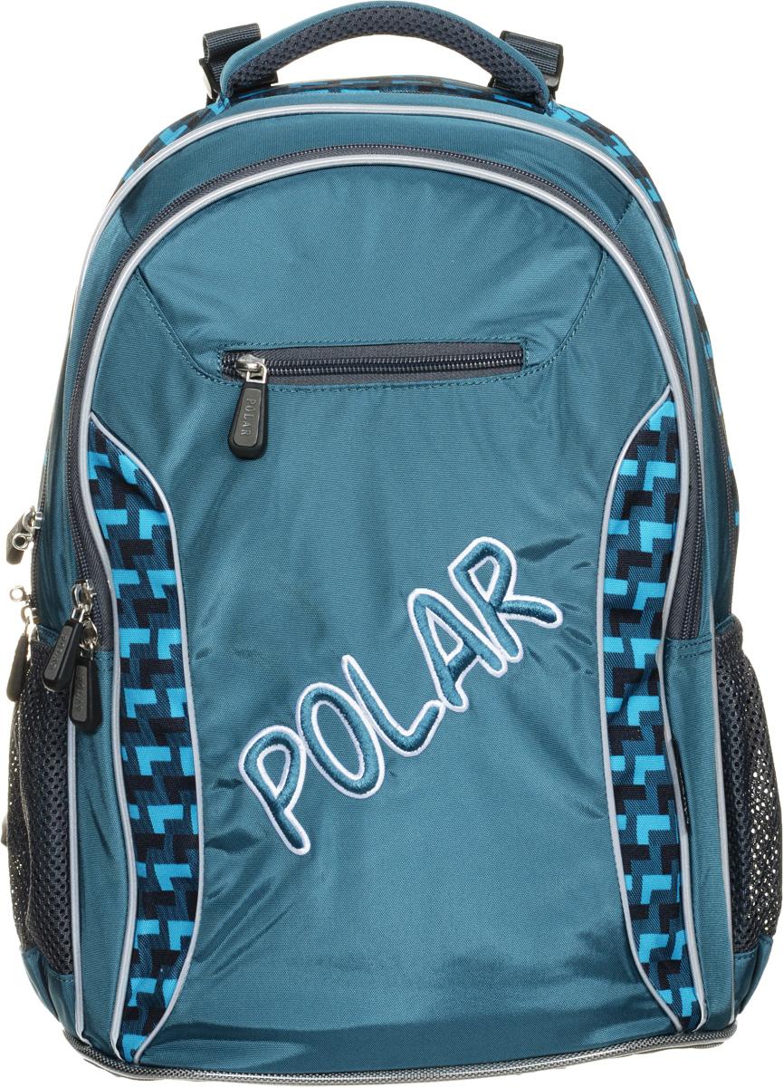 Рюкзак детский городской Polar, 26 л, цвет: зеленый. П0082-09