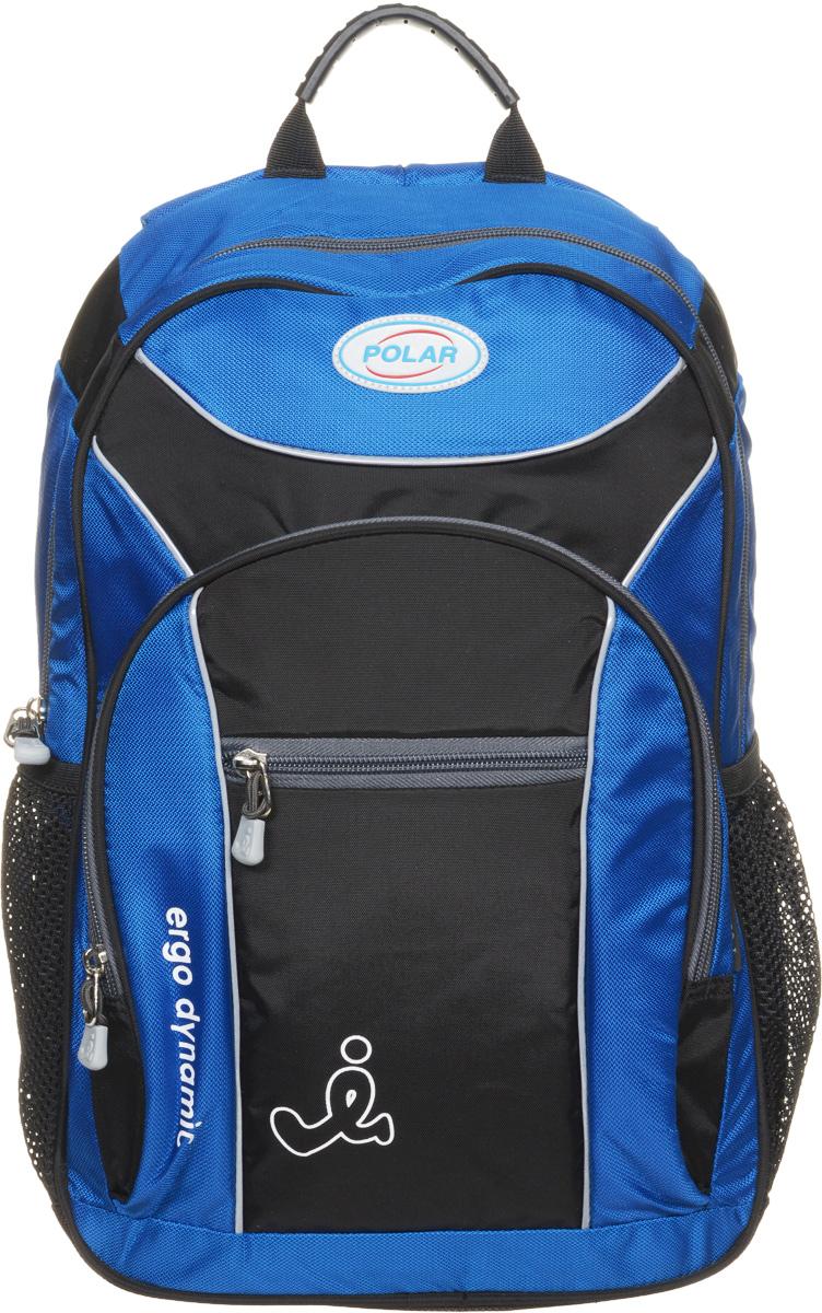 Рюкзак детский городской Polar, 17 л, цвет: синий. П0088-04 рюкзак городской polar цвет синий 16 л п7074 04 page 1