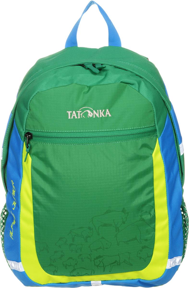 Рюкзак детский Tatonka Alpine Junior, цвет: зеленый, 11 л1827.404Аккуратный и удобный рюкзак для детей 4-7 лет. Рюкзак универсален, подойдет как для детского сада, так и путешествий. В нем поместится все необходимое: перекус, вода, сменная одежда, салфетки, небольшие игрушки и тд. Спинка с мягкой подкладкой, удобные S-образные лямки, нагрудный ремень: все это способствует идеальной посадке рюкзака. Отражающие элементы повышают безопасность ребенка на улице.