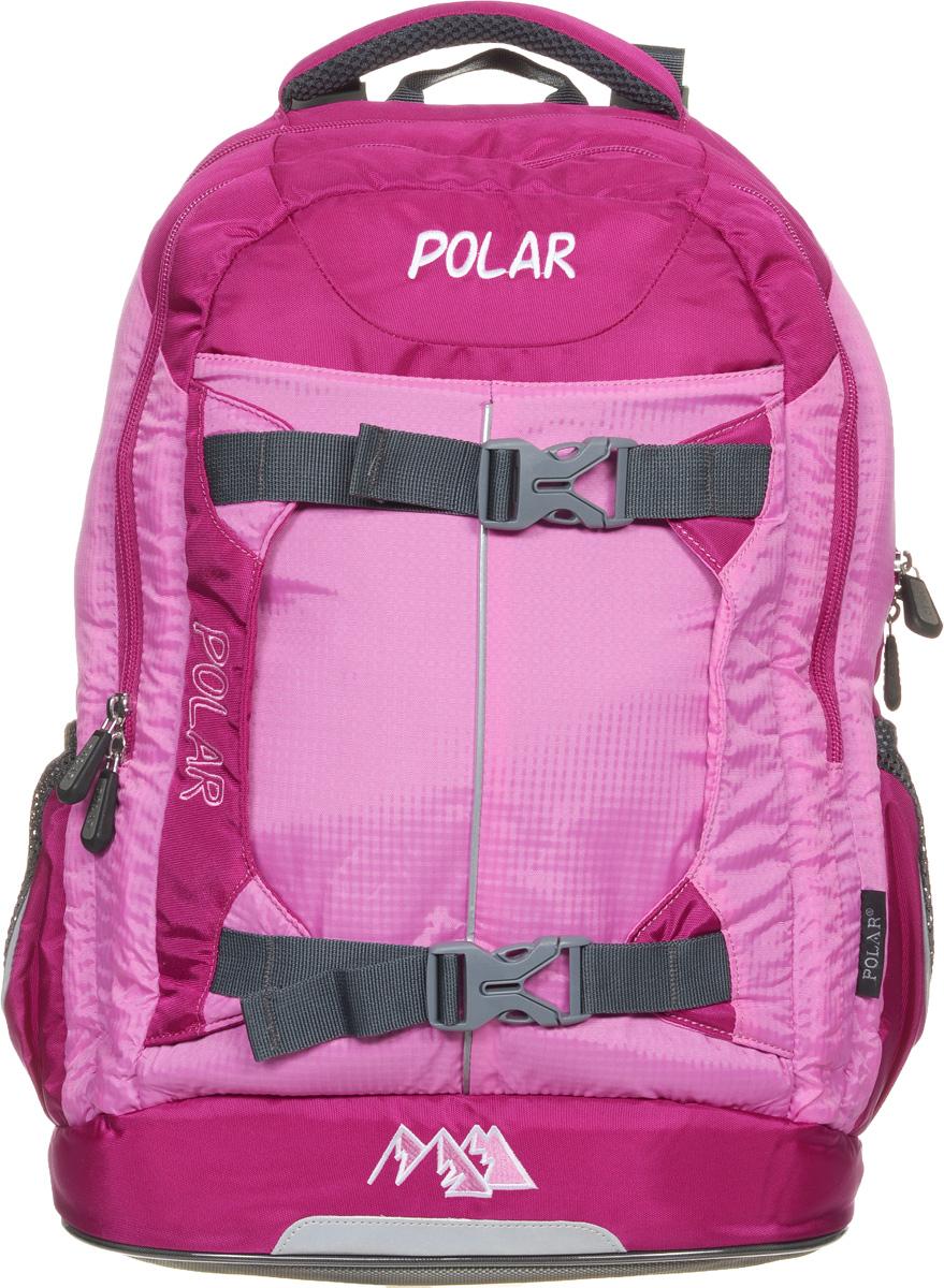 Рюкзак детский городской Polar, 24 л, цвет: розовый. П222-17 рюкзак polar polar po001buawne5