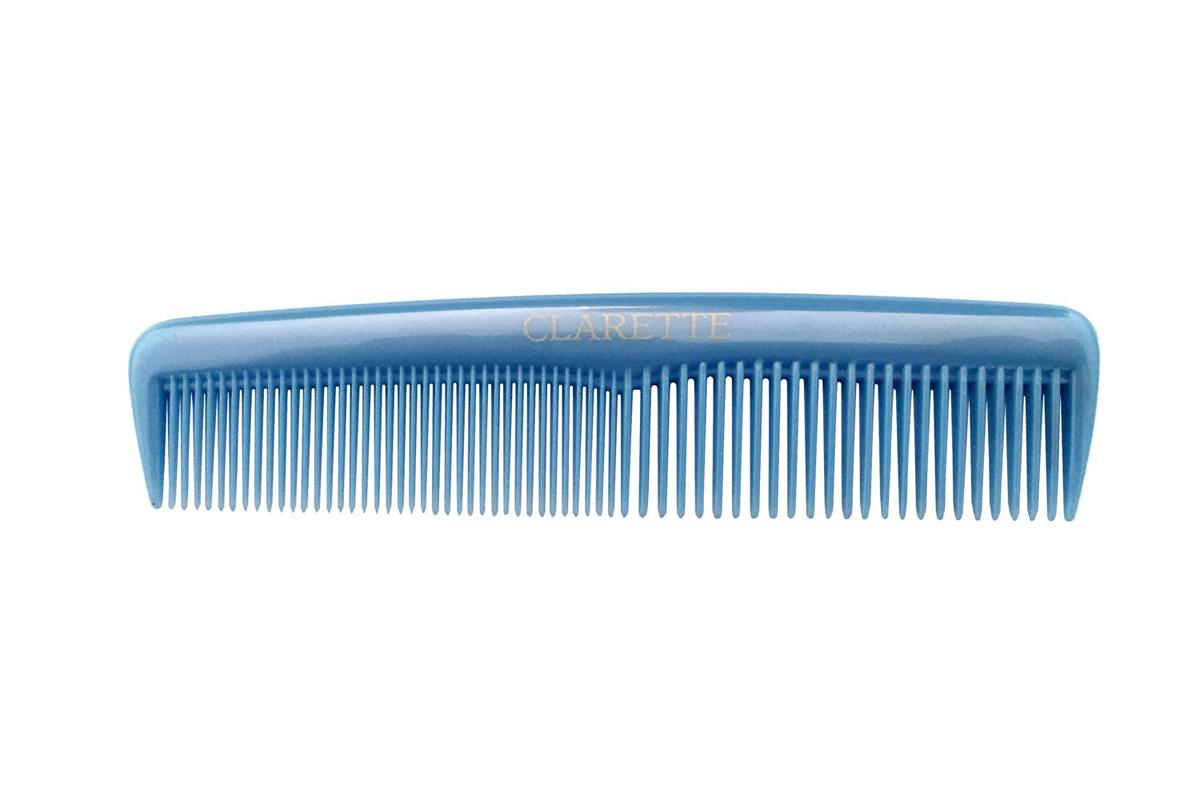 Clarette Расческа для волос универсальная, цвет: голубойCPB 629Коллекция Clarette Перламутр- это расчески, щетки и термо-брашинги для ухода за волосами. Коллекция изготовлена из перламутрового пластика в яркой цветовой гамме. Форма расчески позволяет легко и удобно расчесывает даже густы волосы. Подходит для ежедневного применения.