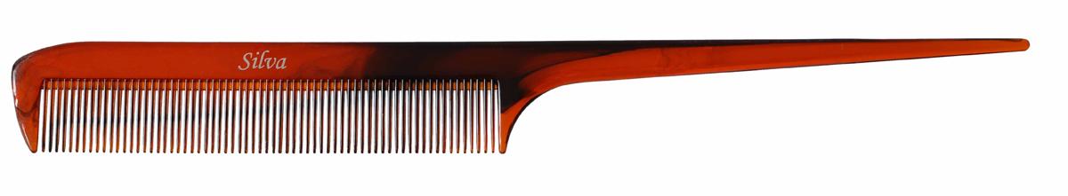 Silva Расческа для волос с остроконечной ручкой, цвет: коричневыйSC 322Silva представляет коллекцию расчесок для укладки и моделировании волос. Невероятно легкие и удобные в применении, они идеально подходят не только для домашнего использования, но и для профессионального. Для разделения волос на пряди и расчесывания при накручивании на бигуди. Подходит для оформления прически.