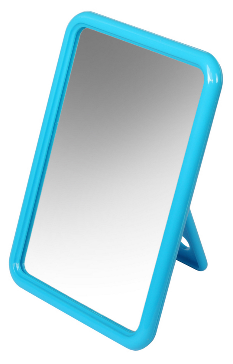 Silva Зеркало настольное, прямоугольное, цвет: голубой