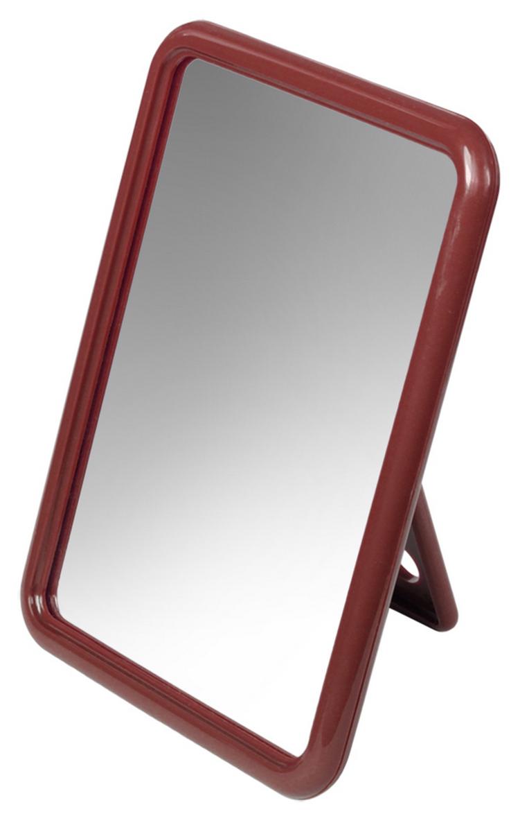 Silva Зеркало настольное, прямоугольное, цвет: коричневый