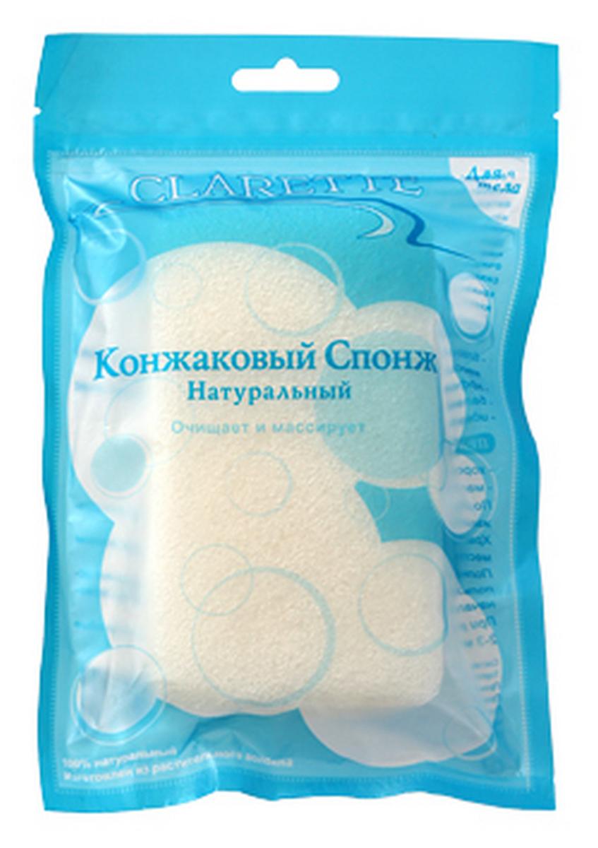Фото Clarette Конжаковый спонж натуральный для тела,белый