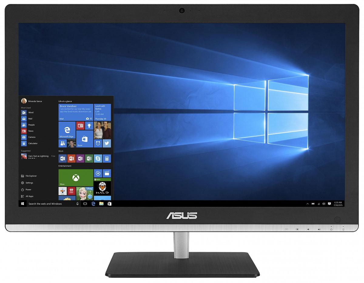 ASUS Vivo AiO V220IBGK, Black моноблок (V220IBGK-BC009X)V220IBGK-BC009XВ тонком и компактном корпусе моноблока Asus Vivo AiO V220IBGK разместились все компоненты современного компьютера - дисплей, процессор, видеокарта, память, диск и многое другое. Этот новый моноблочный ПК, получивший новейший процессор и мощную графическую систему, оснащается стильной металлической подставкой.Современный моноблок серии Vivo AiO - это компактное устройство с полным набором возможностей настольного компьютера. Благодаря тонкому корпусу он не занимает много места на столе, способствуя созданию уютной обстановки в помещении.Стильная серебристая подставка, используемая в моноблоке, придает ему дополнительную изящность. Уникальный шарнирный механизм спрятан под задней панелью, что делает внешний вид устройства еще более утонченным и органичным.Новейший процессор Intel сделает комфортной работу с несколькими одновременно запущенными программами, а технология Intel Turbo Boost 2.0 придает ему дополнительную скорость в те моменты, когда это необходимо. Моноблочные компьютеры серии V220IB удовлетворяют всем вашим требованиям.Моноблоки Asus серии V220IB оснащены современной графической подсистемой. Это может быть либо высокоскоростное графическое ядро, интегрированное в процессор Intel, либо видеокарта NVIDIA GeForce GT930M.Asus Vivo AiO V220IBGK обладает ультратонким экраном со светодиодной подсветкой, обеспечивающим высокую яркость и контрастность изображения. Разрешение Full HD (1920x1080) позволяет наслаждаться играми и фильмами с безупречной четкостью. Картинка на этом замечательном экране будет всегда выглядеть насыщенной и яркой, а оттенки цветов - реалистичными, будь то красивый закат, ясное голубое небо или цвет волос вашего ребенка.Моноблоки V220IB оснащены встроенными стереодинамиками и поддерживают эксклюзивную технологию ASUS SonicMaster Premium, гарантирующую невероятно мощное и реалистичное звучание.Для настройки звучания служит функция Audio Wizard, предлагающая выбрать один