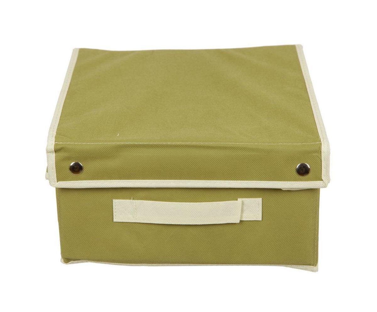 Кофр для хранения HomeMaster, складной, цвет: оливковый, 28 x 33 x 15 см20110401Кофр HomeMaster предназначен для хранения вещей. Он обеспечит бережное хранение и позволит организовать внутреннее пространство вашего дома. Теперь вы быстро найдете необходимую вещь. Кофр можно расположить, как на полке, так и в выдвижном ящике вашего шкафа.