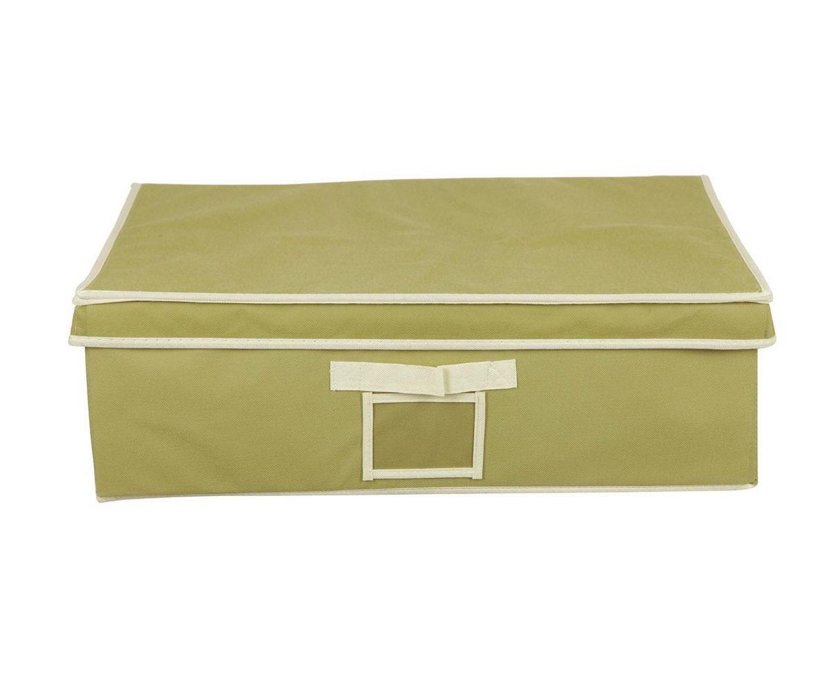 Кофр для хранения HomeMaster, складной, цвет: оливковый, 56 х 48 х 18 см20110404Кофр HomeMaster предназначен для хранения вещей. Он обеспечит бережное хранение и позволит организовать внутреннее пространство вашего дома. Теперь вы быстро найдете необходимую вещь. Кофр можно расположить как на полке, так и в выдвижном ящике вашего шкафа.