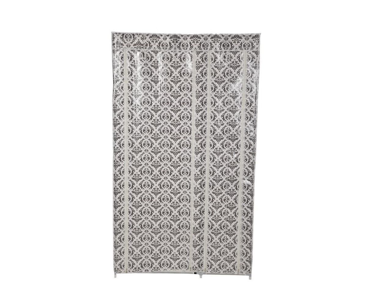 Гардероб для хранения одежды HomeMaster, цвет: черный, белый, 79 х 42 x 93-160 см вешалка напольная homemaster телескопическая 79 х 42 см высота 93 160 см