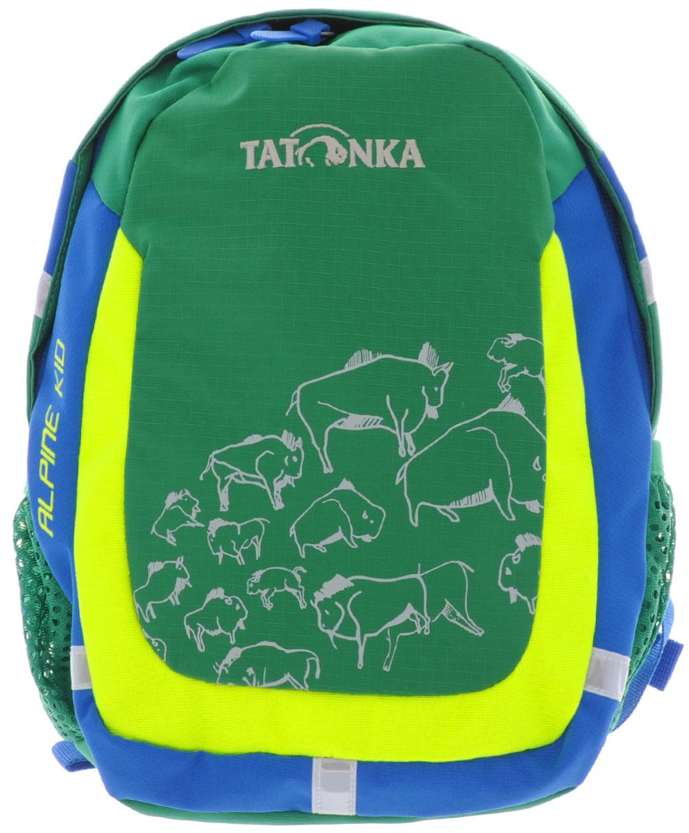 Рюкзак детский Tatonka Alpine Kid, цвет: зеленый, 6 л1831.404Городской рюкзак для детей от 3 до 5 лет. С объемом основного отделения 6 л. и накладным карманом со светоотражающими вставками - Alpine Kid подходит малышу не только для того, чтобы дойти до детского сада, но и для более длинных маршрутов.