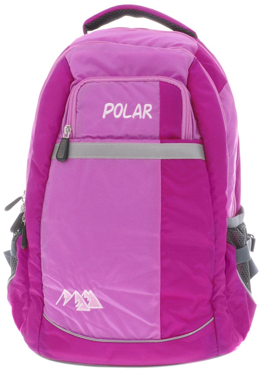Рюкзак детский городской Polar, 26 л, цвет: розовый. П220-17 рюкзак детский городской polar 26 л цвет серый п220 06