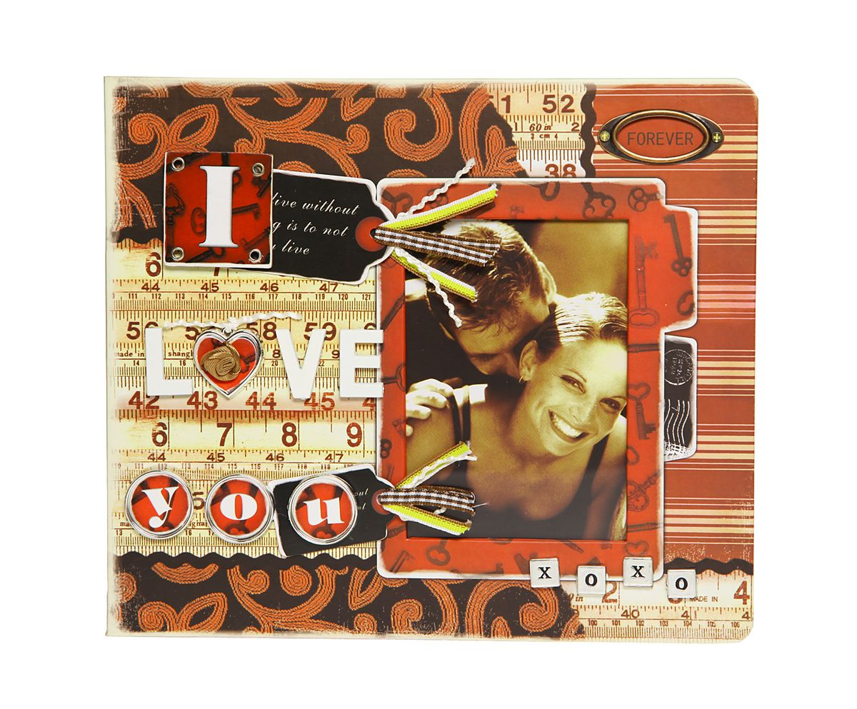 Фотоальбом HomeMaster Любовь, 120 фото, 25 х 23 х 4 см. JX-AM2050 коврик домашний sunstep цвет кремовый 120 х 170 х 4 см