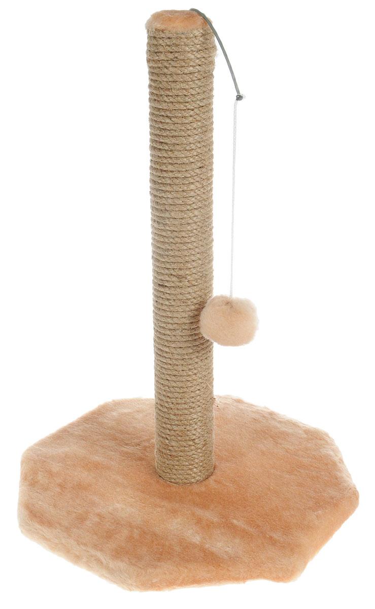 Когтеточка Меридиан, на подставке, с игрушкой, цвет: песочный, высота 53 смК504_2Когтеточка Меридиан поможет сохранить мебель и ковры в доме от когтей вашего любимца, стремящегося удовлетворить свою естественную потребность точить когти. Когтеточка изготовлена из дерева, искусственного меха и джута. Товар продуман в мельчайших деталях и, несомненно, понравится вашей кошке. Сверху имеется висячая игрушка, которая привлечет питомца.Всем кошкам необходимо стачивать когти. Когтеточка - один из самых необходимых аксессуаров для кошки. Для приучения к когтеточке можно натереть ее сухой валерьянкой или кошачьей мятой. Когтеточка поможет вашему любимцу стачивать когти и при этом не портить вашу мебель.Размер основания: 36 х 36 см.Высота когтеточки: 53 см.
