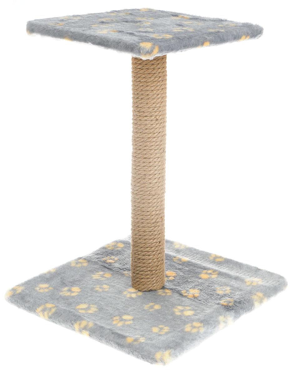 """Когтеточка Меридиан """"Зонтик"""", цвет: серый, желтый, бежевый, 40 х 40 х 50 см"""