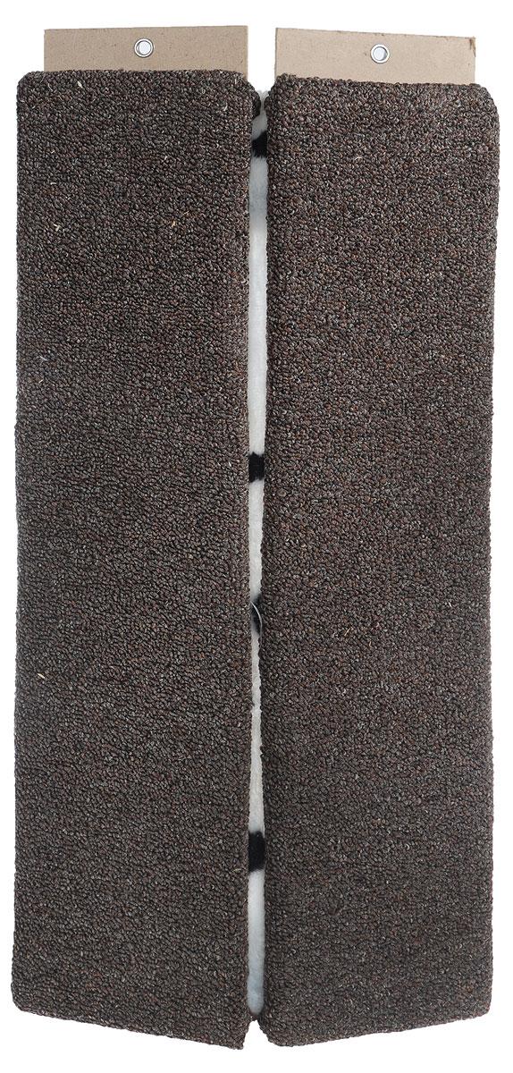 Когтеточка Меридиан, настенная, угловая, цвет: коричневый, белый, черный, длина 68 смК506 ССУгловая когтеточка Меридиан предназначена для стачивания когтейвашей кошки и предотвращения их врастания. Волокна ковролина обеспечивает естественныйуход за когтями питомца. Когтеточка позволяетсохранить неповрежденными мебель и другие предметы интерьера.Угловая когтеточка может крепиться на смежных поверхностях стен и пола. Длина когтеточки: 68 см. Длина рабочей части: 65 см.